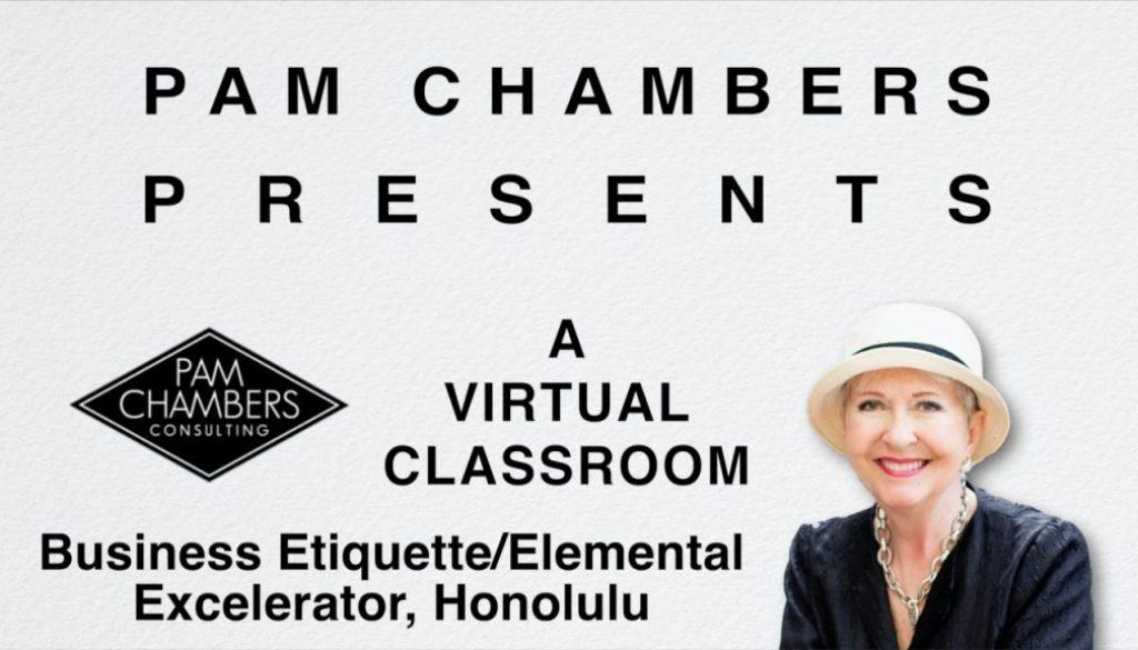 Business Etiquette/Elemental Excelerator, Honolulu